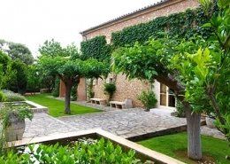 Paisajismo en Mallorca - Finca S'Alqueria - Detalle del jardín diseñado por Viveros Pou Nou